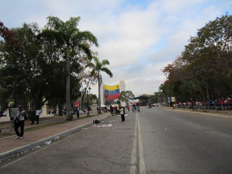Tod Chavez Venezuela stockbild