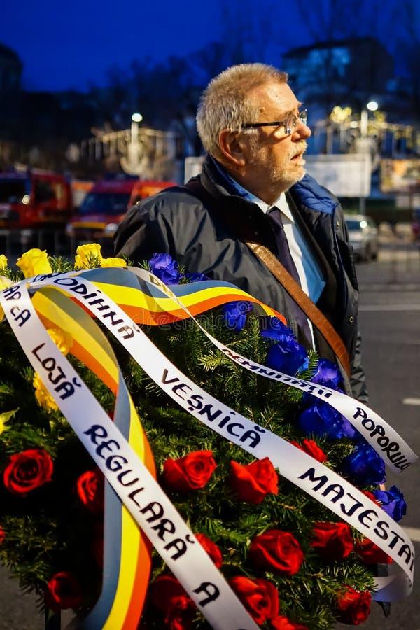 Tod-comemoration von König Mihai von Rumänien lizenzfreies stockfoto