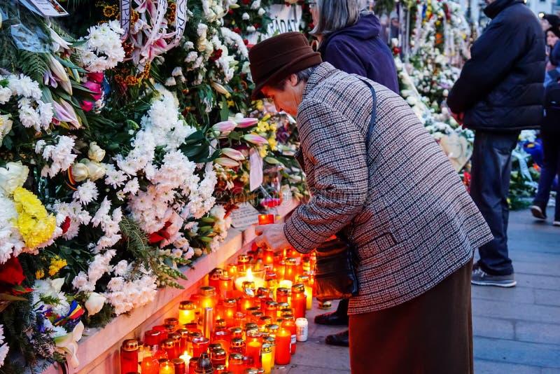 Tod-comemoration von König Mihai von Rumänien stockfotografie