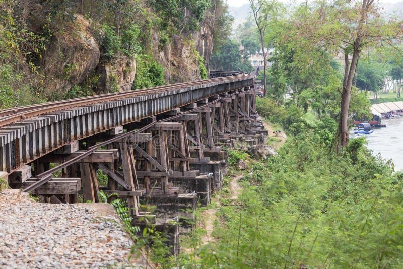 Tod der Bahnbrücke des zweiten Weltkrieges an tham krasae stationieren kanchanaburi Thailand stockfoto
