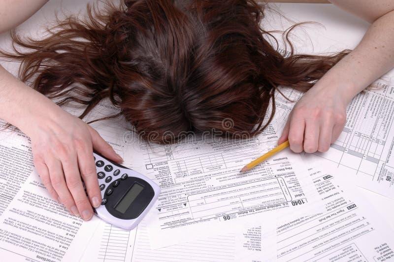 Tod durch Taxes lizenzfreies stockbild