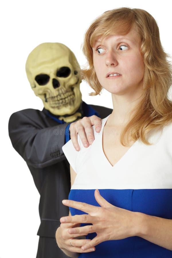 Tod nimmt Frau lizenzfreies stockbild