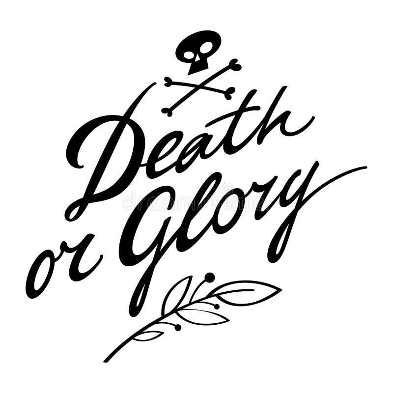 Tod oder Ruhm stock abbildung