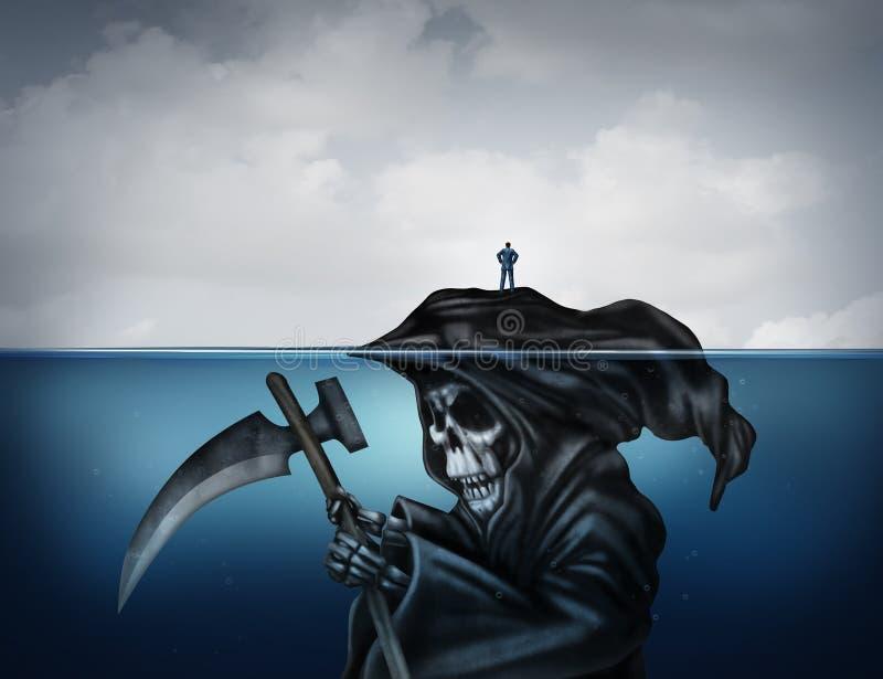 Tod taucht auf stock abbildung
