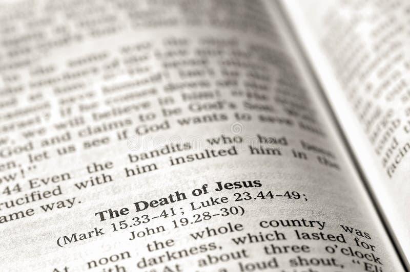 Tod von Jesus stockbild