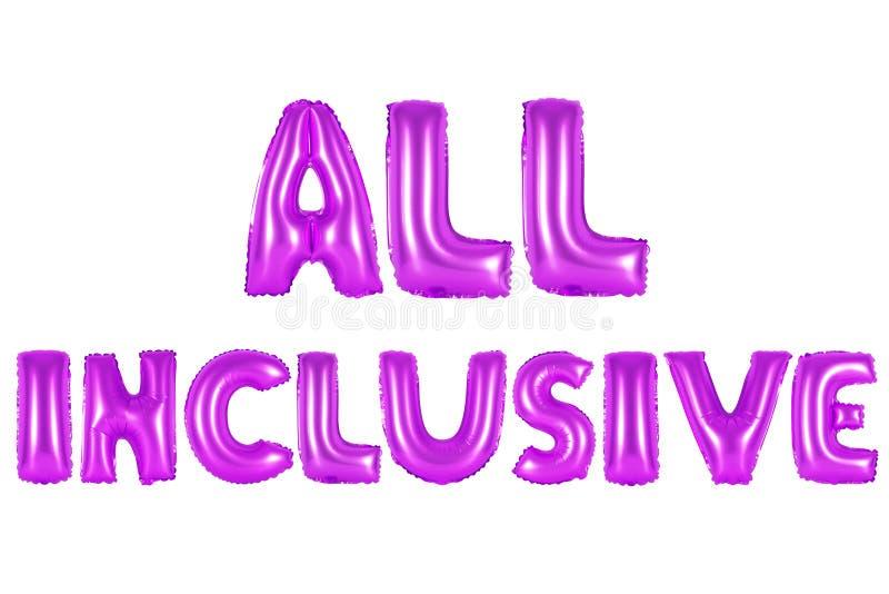 Toda a cor inclusiva, roxa foto de stock