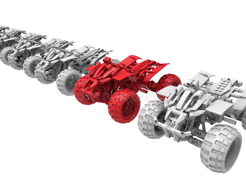 Toda la blanco del vehículo del terreno en la línea concepto libre illustration
