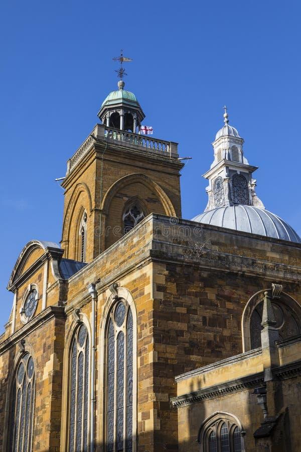 Toda la iglesia de los santos en Northampton fotografía de archivo libre de regalías