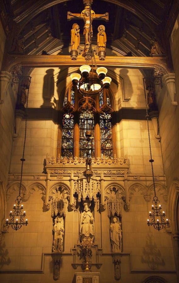 Toda la iglesia de trinidad de la capilla de los santos New York City fotos de archivo libres de regalías