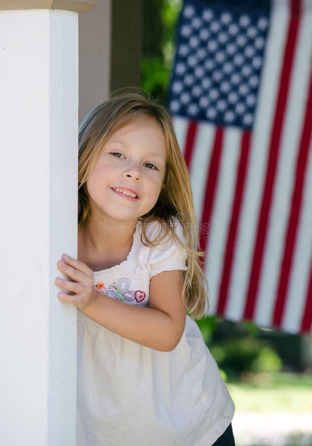 Toda la muchacha americana imagen de archivo