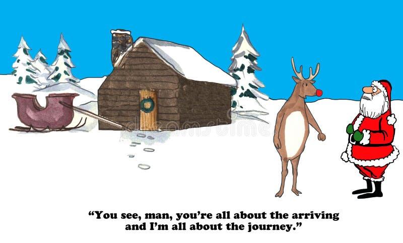 Toda sobre a viagem do Natal ilustração stock