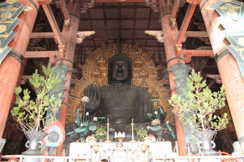 Todai ji的了不起的菩萨在奈良 图库摄影