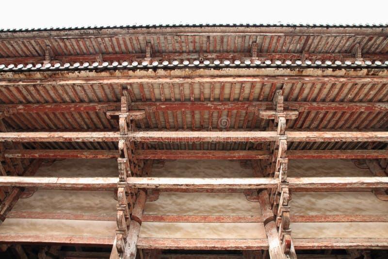 Todai ji Nandaimon门在奈良 库存照片
