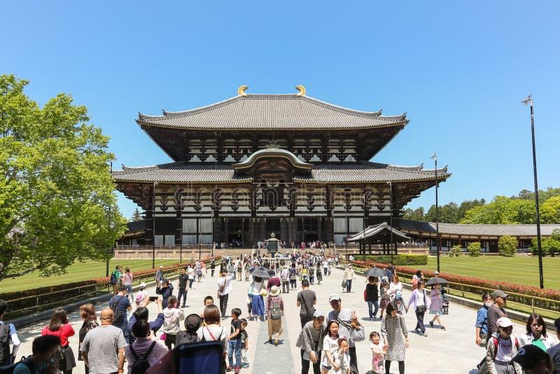 Todai-ji stor östlig tempel, i Nara Japan arkivbild