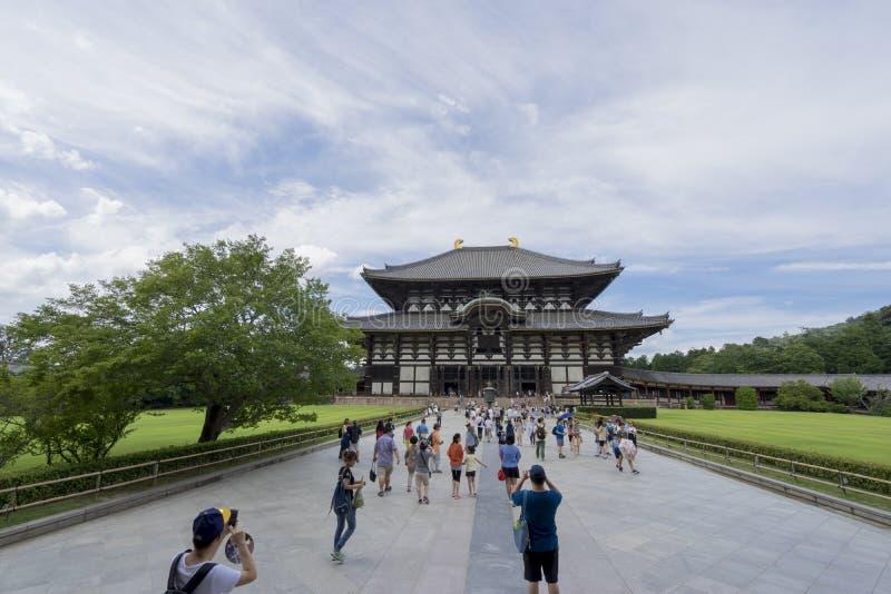 Todai-ji tempel 2 arkivbilder