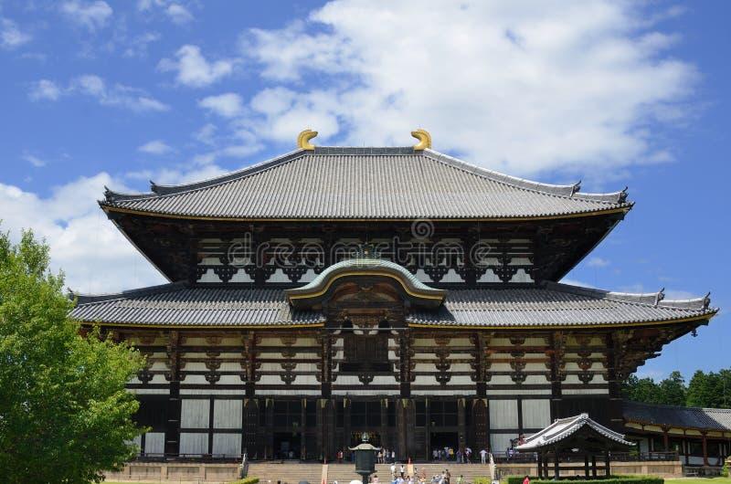 Todai-ji tempel i Nara, Japan royaltyfri foto