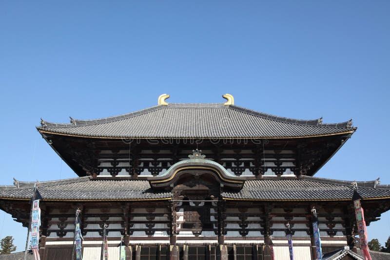 todai-ji Tempel in Nara bei Japan lizenzfreies stockbild