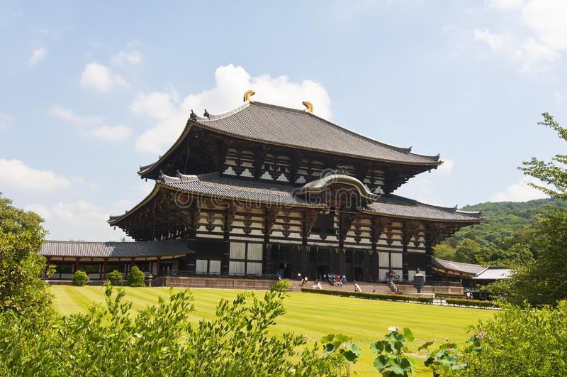 Todai-ji Tempel in Nara, Japan stockfotografie