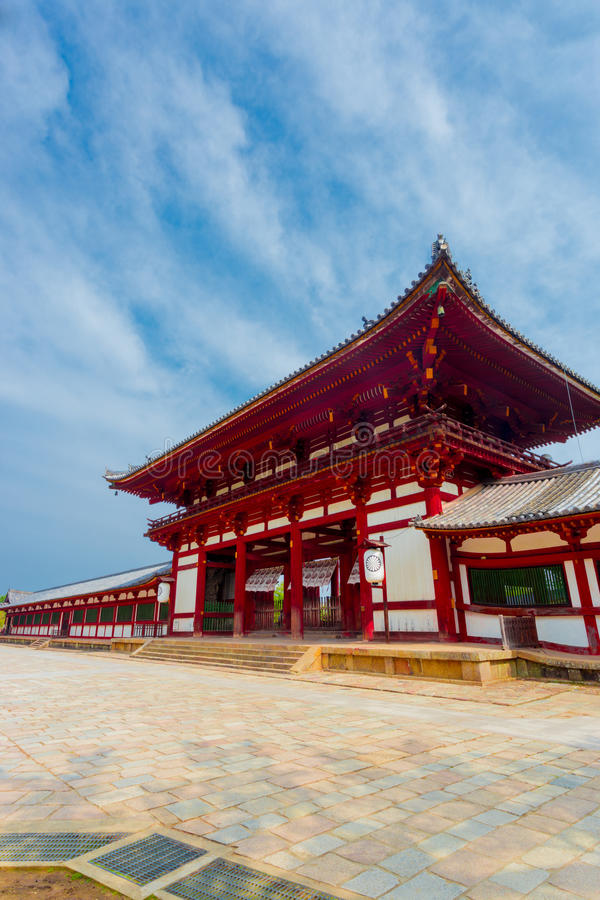 Free Todai-Ji Temple Red Gate Angled Blue Sky V Stock Images - 67831464