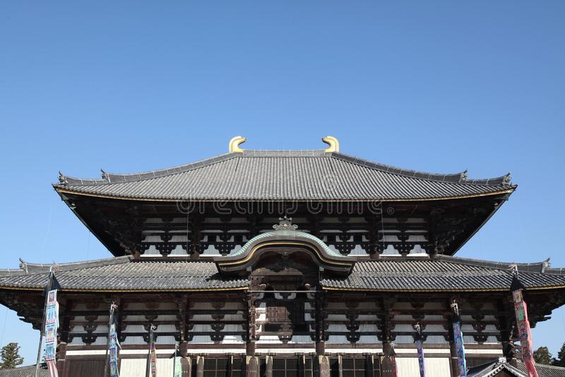 todai-jitempel in Nara in Japan royalty-vrije stock afbeelding