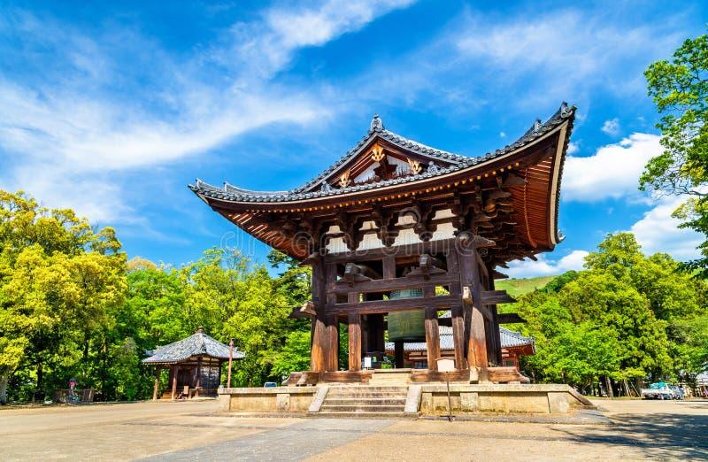 Todaien-ji Klocka i Nara, Japan arkivbild