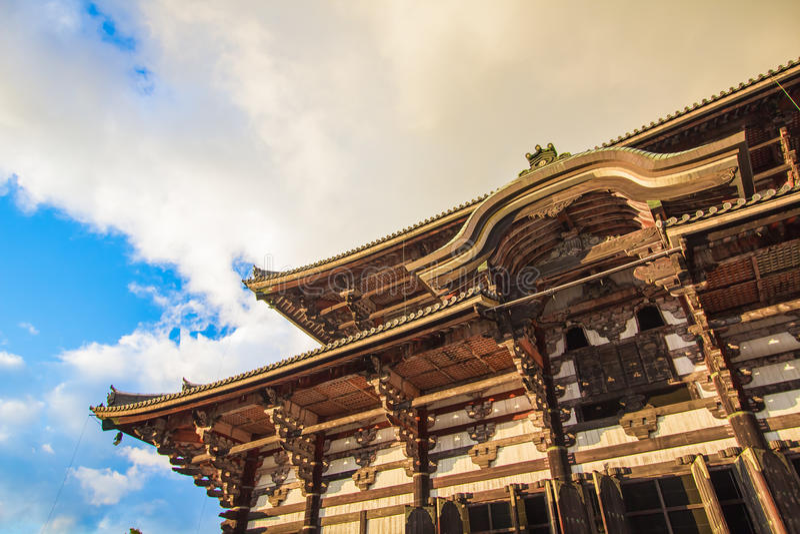Todaiji寺庙在奈良,日本 免版税库存照片