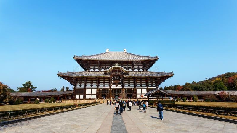 Todaiji寺庙的Daibutsu小室在奈良 库存照片