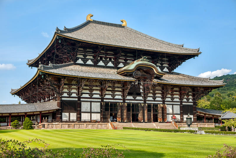Todaiji tempel i Nara royaltyfri bild