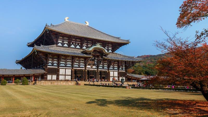 Todaiji tempel i Nara arkivbild