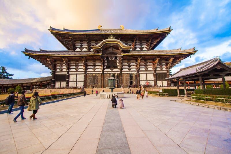 Todaiji tempel i Nara, Japan royaltyfria bilder