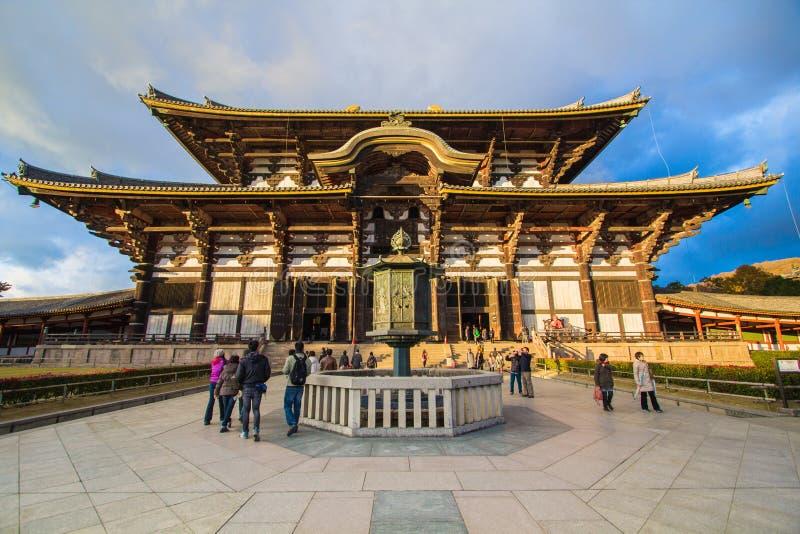 Todaiji Tempel in Nara, Japan stockfotos