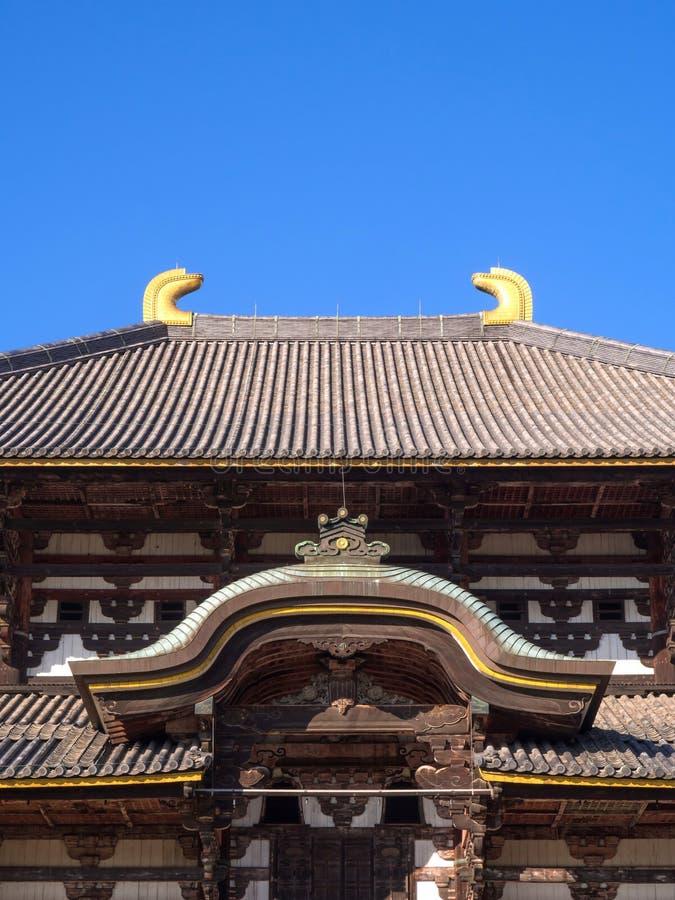 Todaiji-Tempel in Nara-Stadt, Japan stockfotos