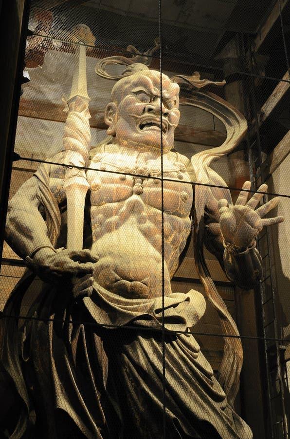 Todaiji Temple Demon Gaurd in Nara, Japan royalty free stock photo