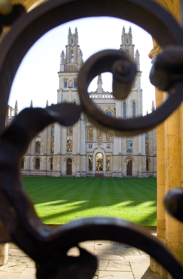 Todas as almas faculdade, Oxford fotos de stock royalty free