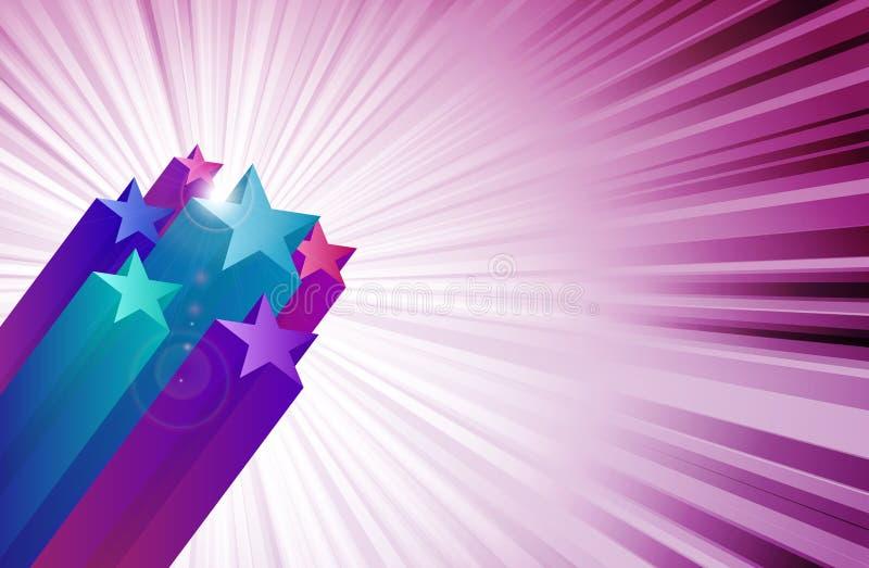 Todas as estrelas ilustração do vetor