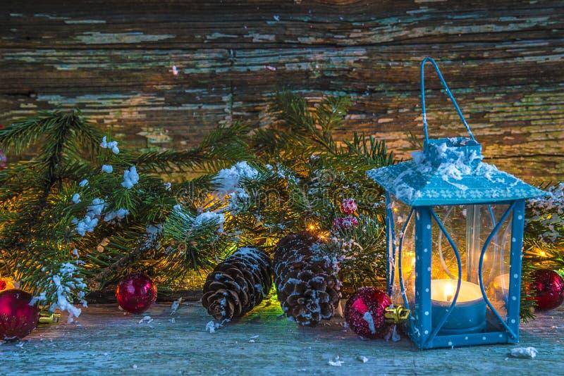 Todavía de la Navidad vida acogedora en estilo retro fotografía de archivo