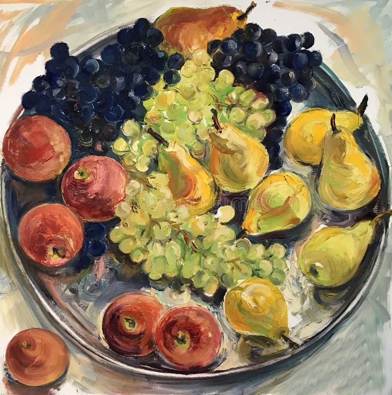 Todavía imagen de la vida de frutas stock de ilustración