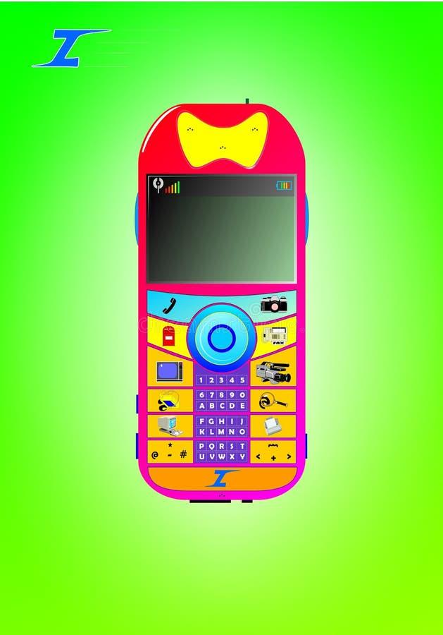 Todavía un teléfono celular stock de ilustración