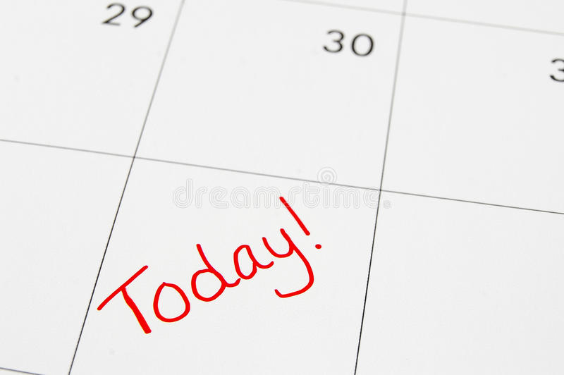 Download Today stock image. Image of over, immediate, date, note - 27838283