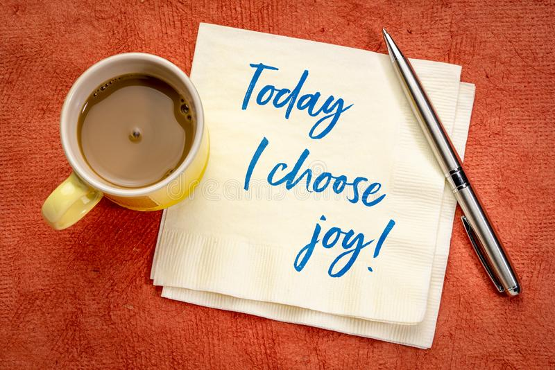 Today I choose joy positive affirmation stock image