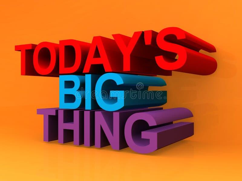 Today`s big thing on orange. Background stock illustration