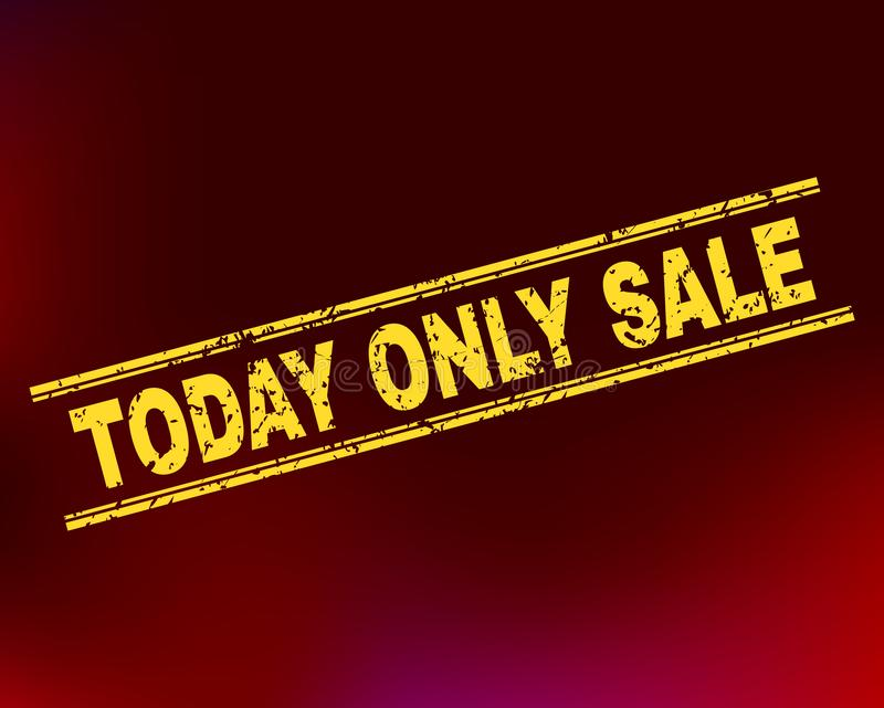 TODAY ONLY SALE Scratched Stamp Seal on Gradient Background vector illustration