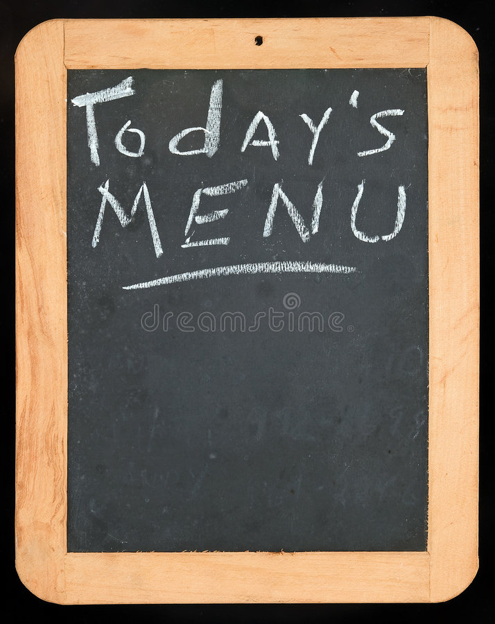 Download Todays Menu sign stock photo. Image of dining, black, retro - 6552082