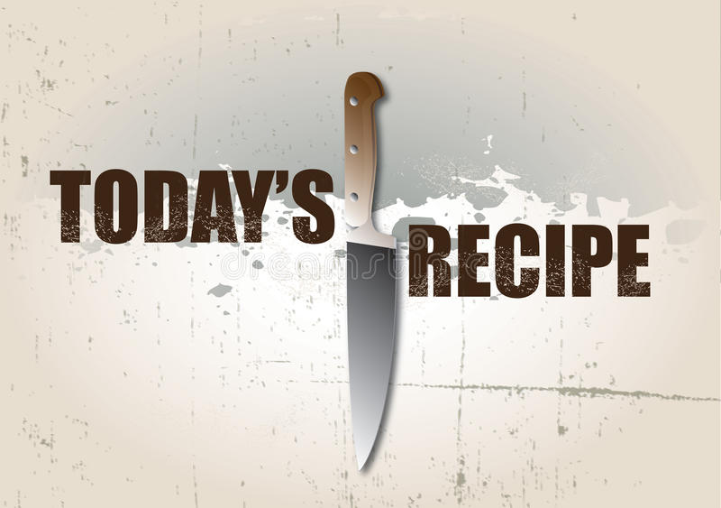 Download Todays Recipe stock illustration. Illustration of grunge - 17612614