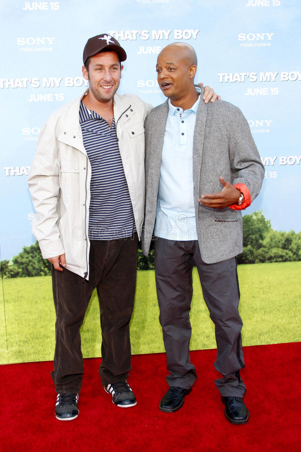 Todd Bridges en Adam Sandler stock foto