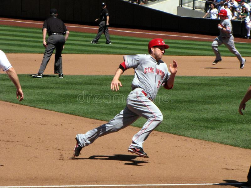 Todd Frazier Running die Basis stockfoto