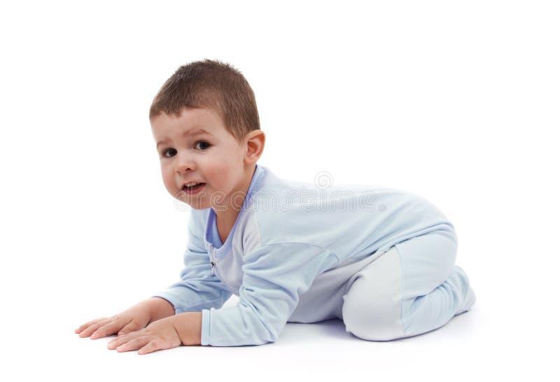 Toddle en pijamas foto de archivo libre de regalías