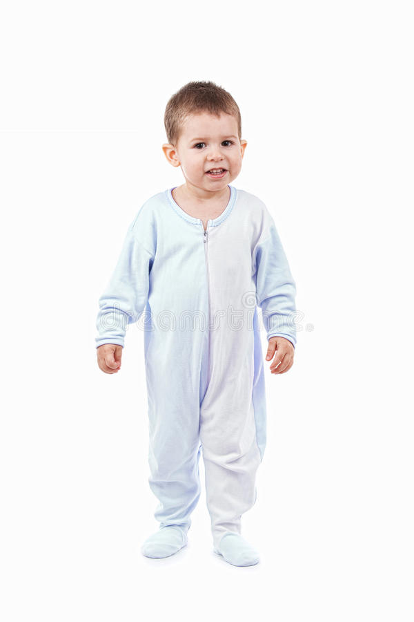 Download Toddle in pajamas stock photo. Image of glad, length - 18439138