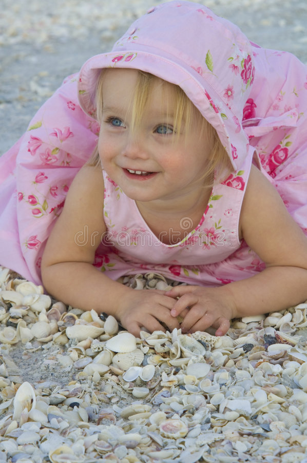 Download Toddler on beach stock photo. Image of smiles, female - 8083190
