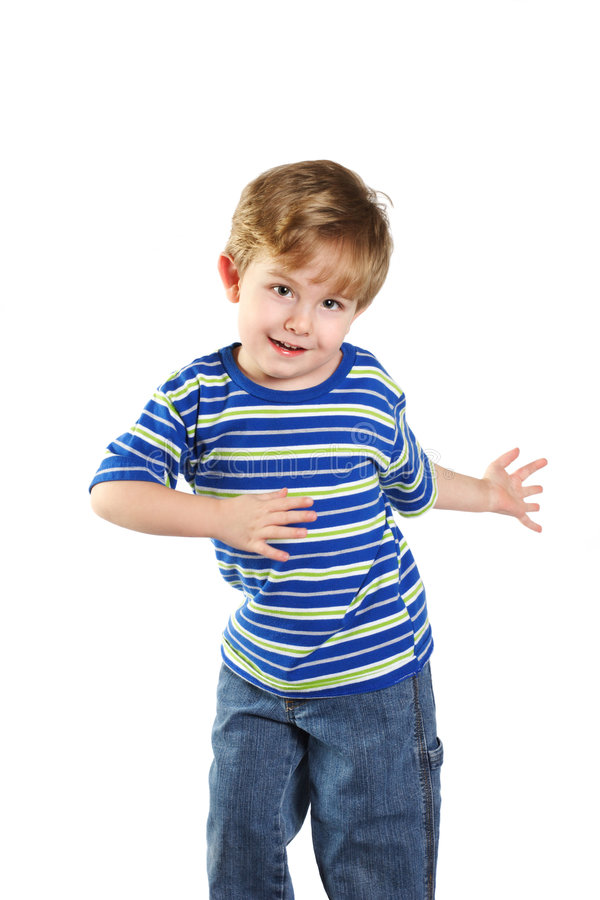 Toddler Boy Dancing royalty free stock photography